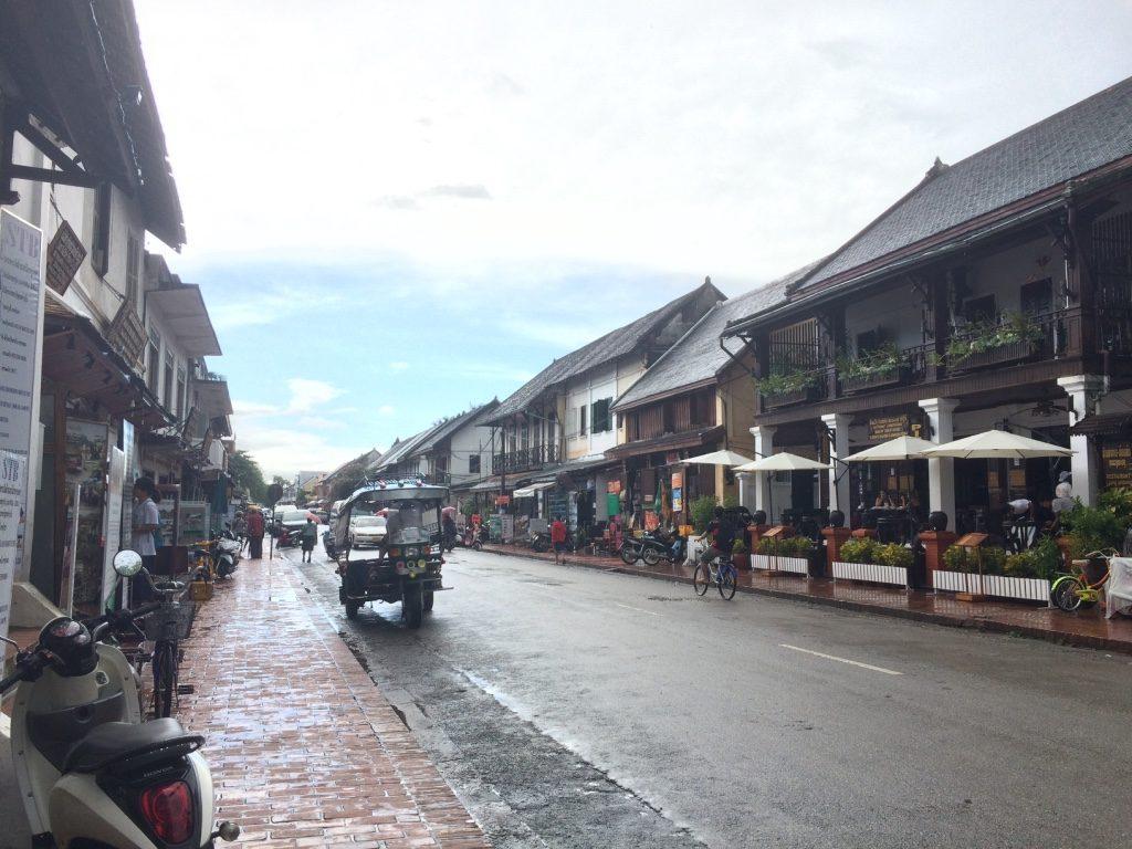 First look at Luang Prabang's main street (Sakkhaline Road)