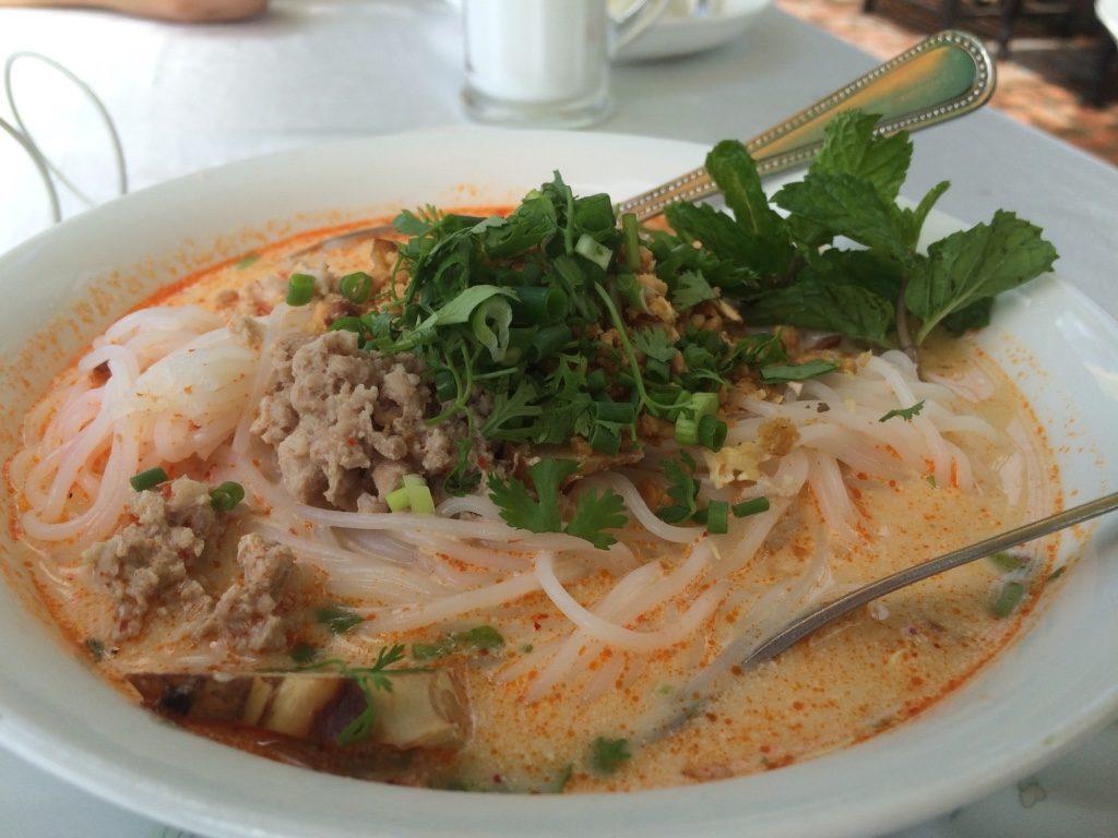 Tim's coconut pork noodle soup (20,000 LAK = $3.18 CAD)