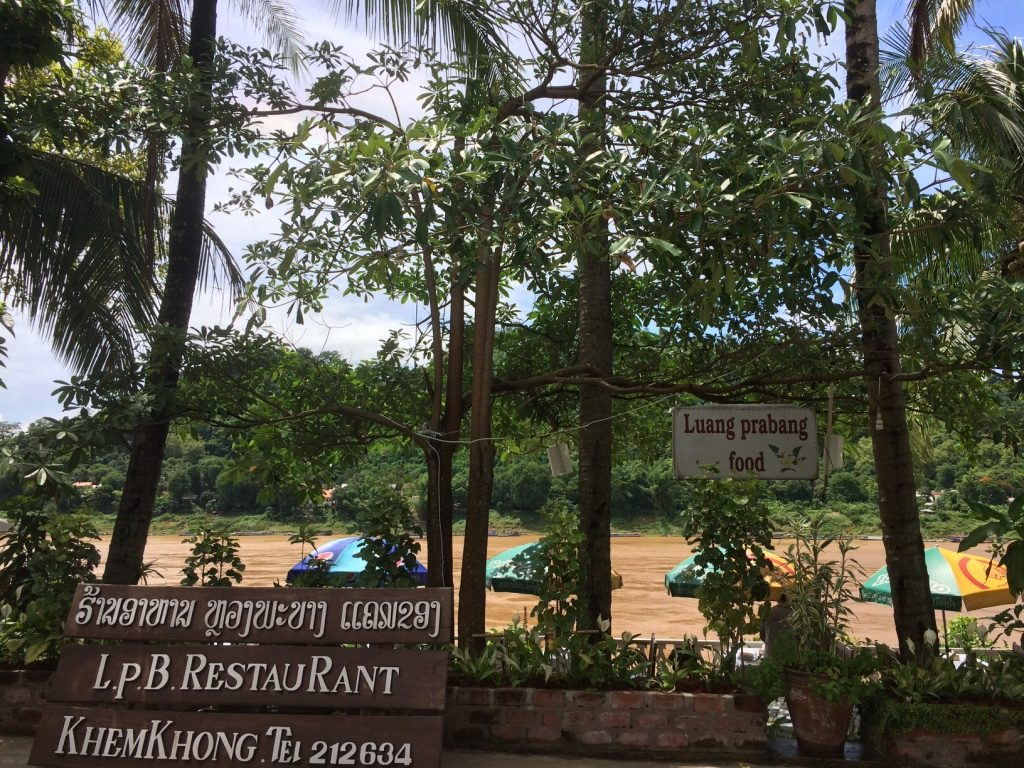 Lunch along the Mekong River