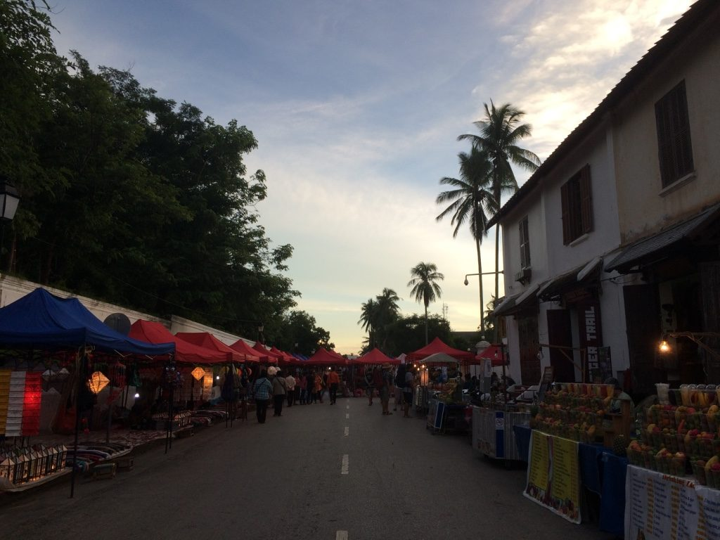 The far end of the night market on the main street