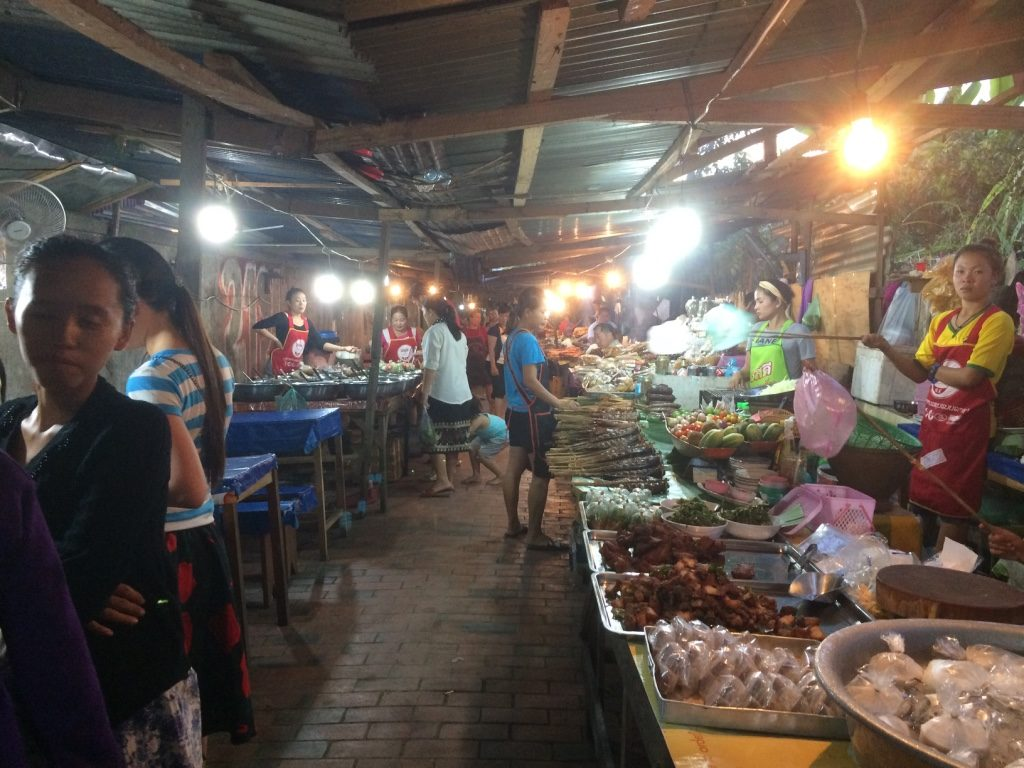 Food alley close to the night market