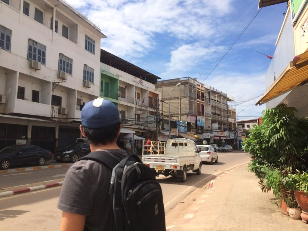 Vientiane streets on our way to Ray's