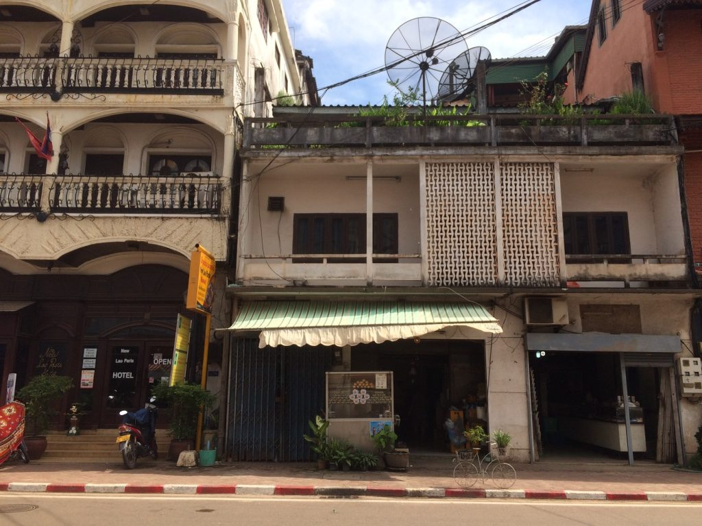 The baguette and pate stand in Vientiane