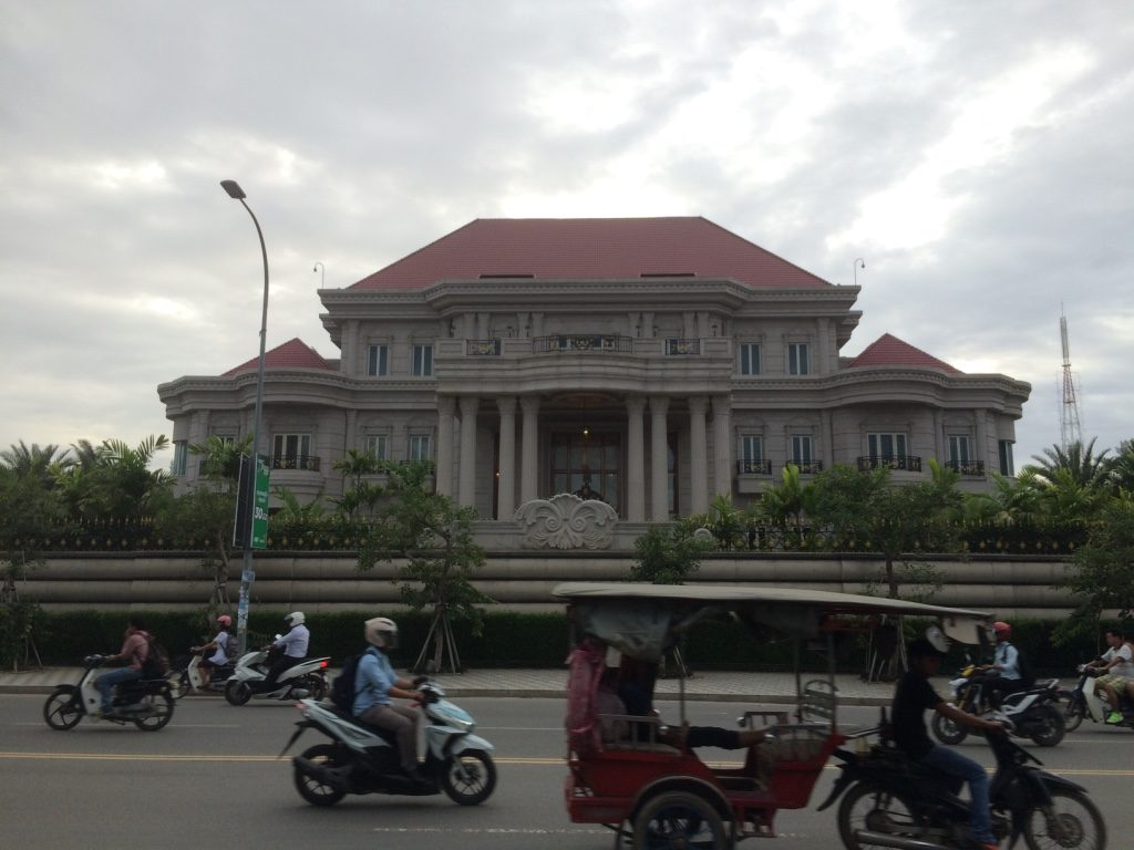 Walking down Norodom Avenue and we came across this really nice residence. There wasn't a sign and I can't find it on Google Maps. There are a bunch of embassies around but this looks nicer than the other embassies.