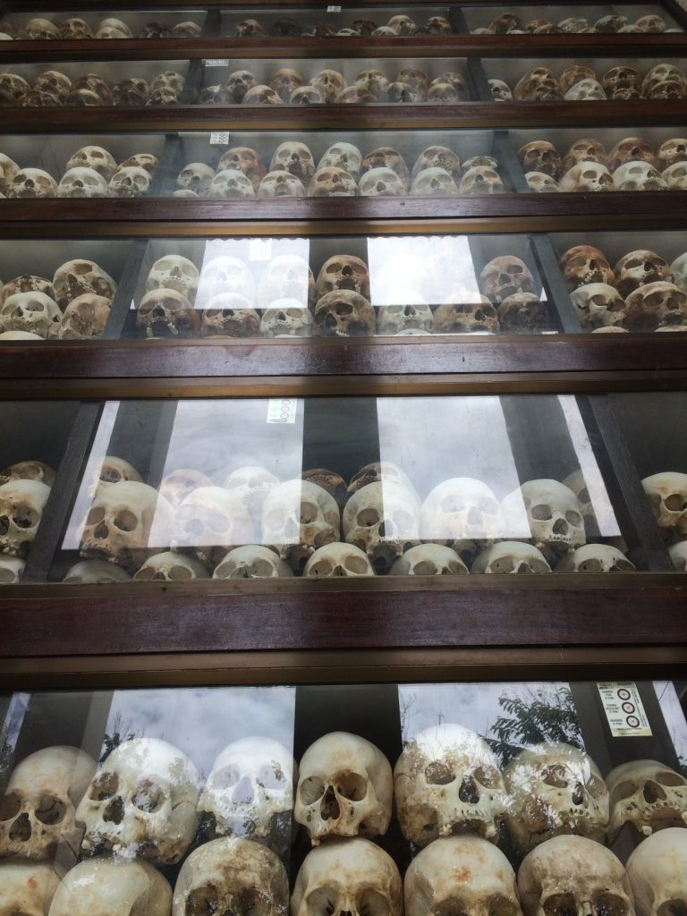 There were 9 levels of skulls. They were all examined and categorized by sex, age, and how they died. Many of the skulls had large fractures due to how they were killed.