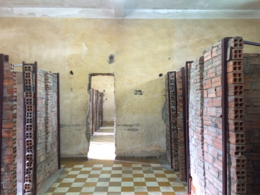 Former classrooms were converted to prison cells