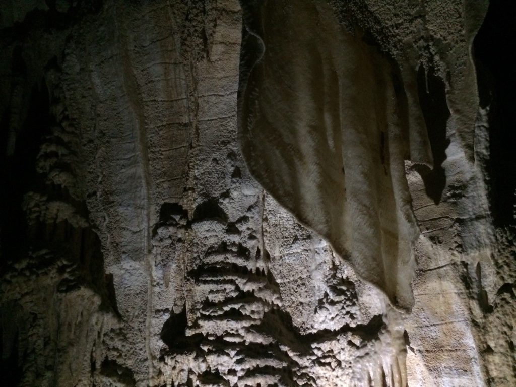 A cool flat sheet like stalactite
