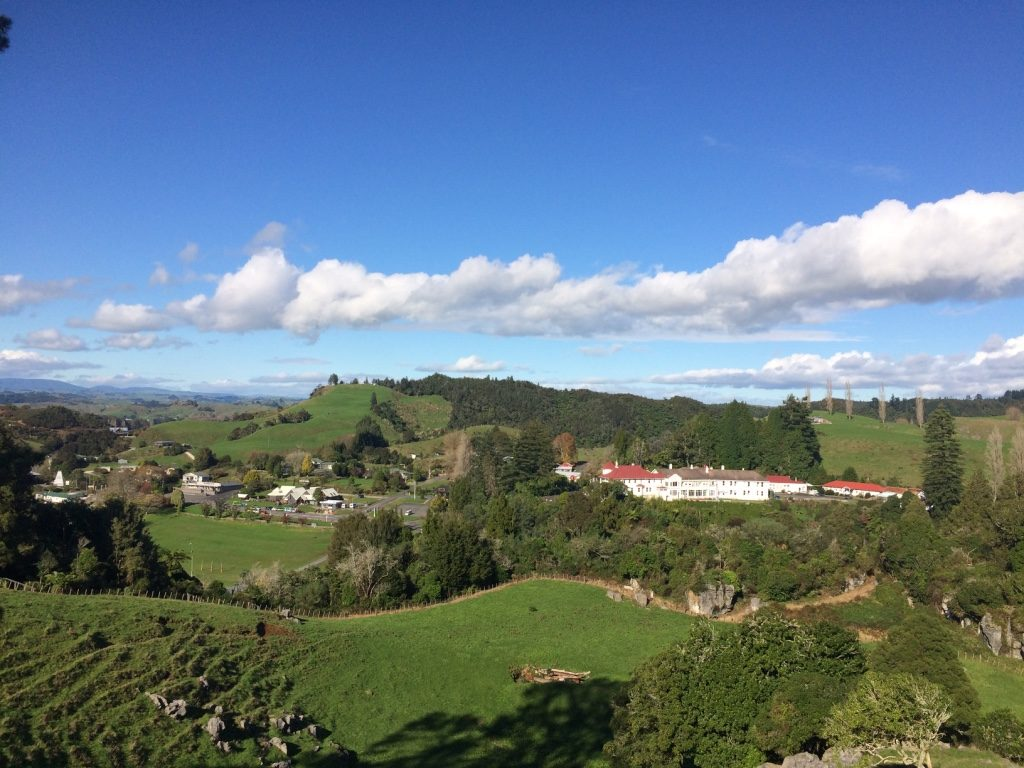 You can see the Waitomo Caves Hotel we stayed at