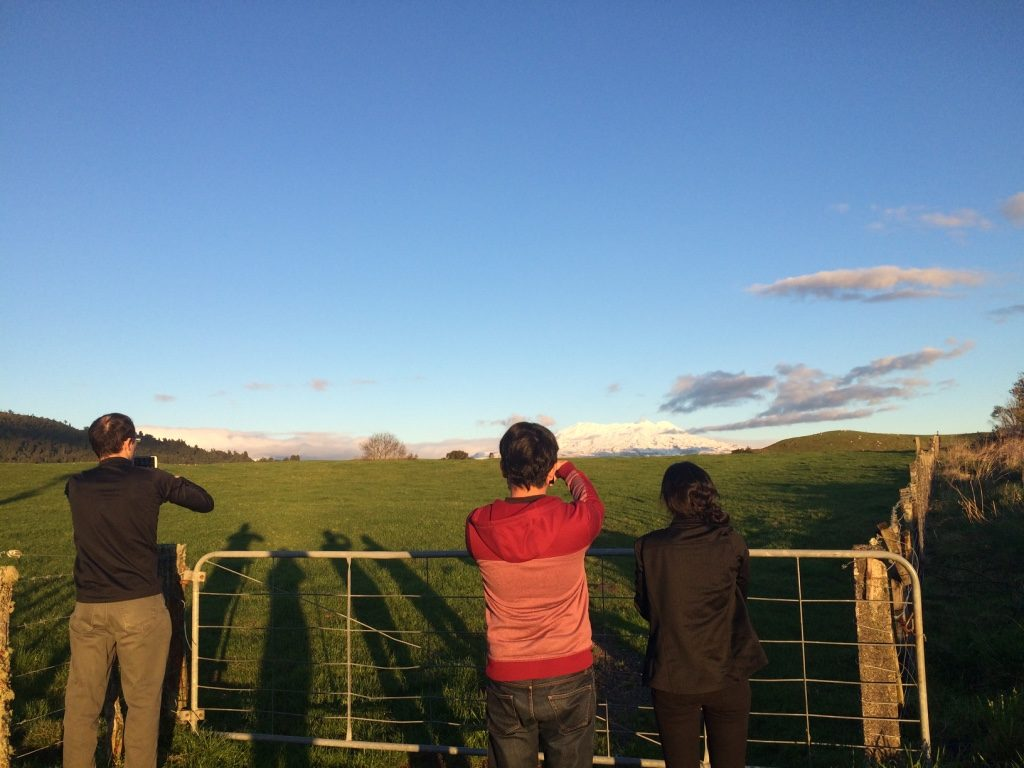 Tim pulled off to the side of the highway and we all took pictures behind a farm fence