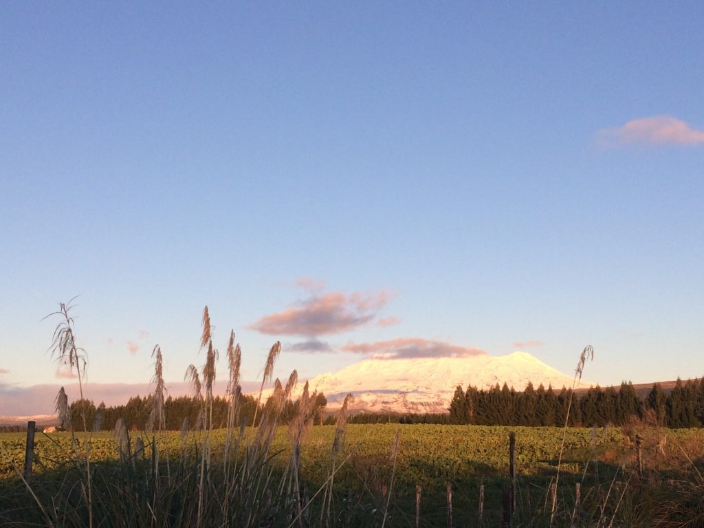 Snowy volcano