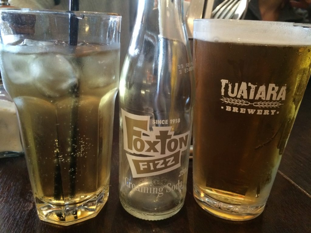 Foxton Fizz's cream soda and Tim's beer both local companies