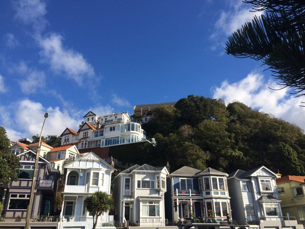 Cute houses on the hill