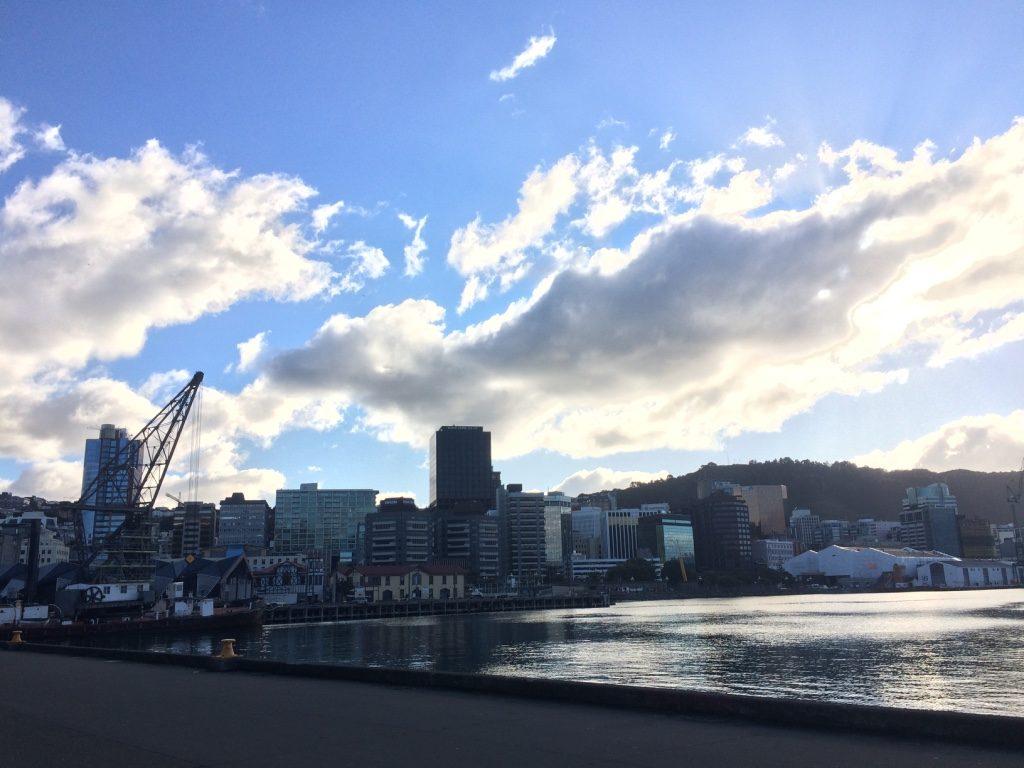 Wellington's CBD sky line is quite small
