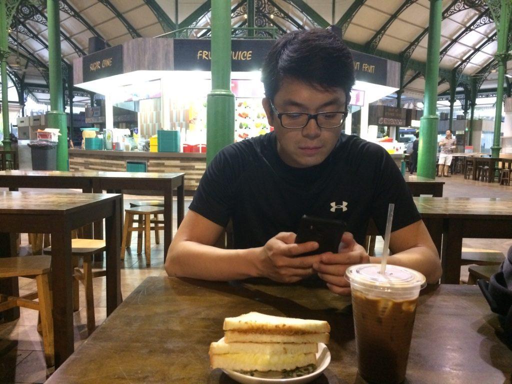 Our Singaporean breakfast at La Pau Sat ($3.40 SGD)