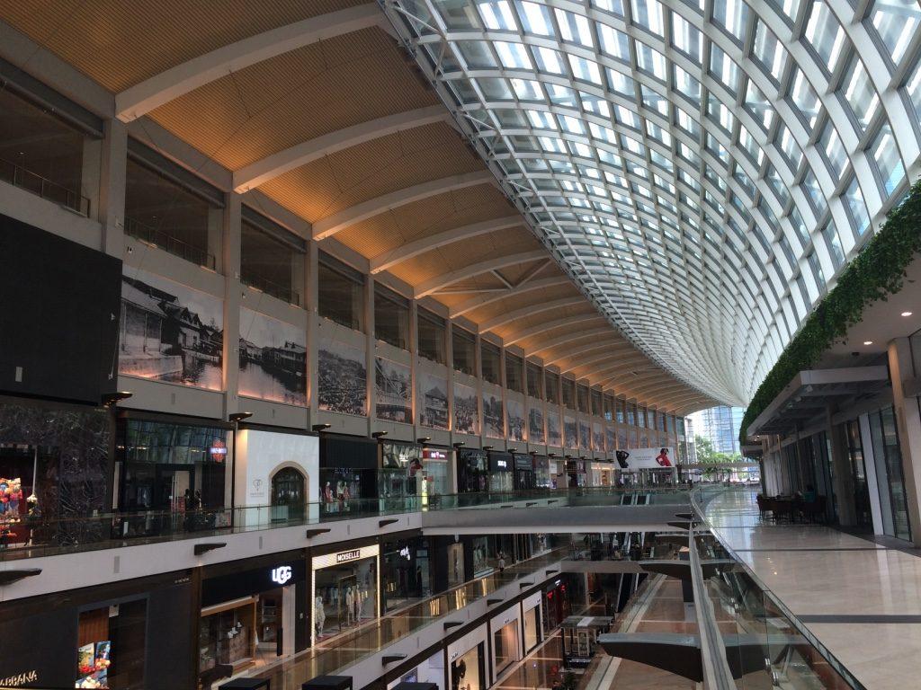 Shoppes at Marina Bay, a very fancy/nice mall