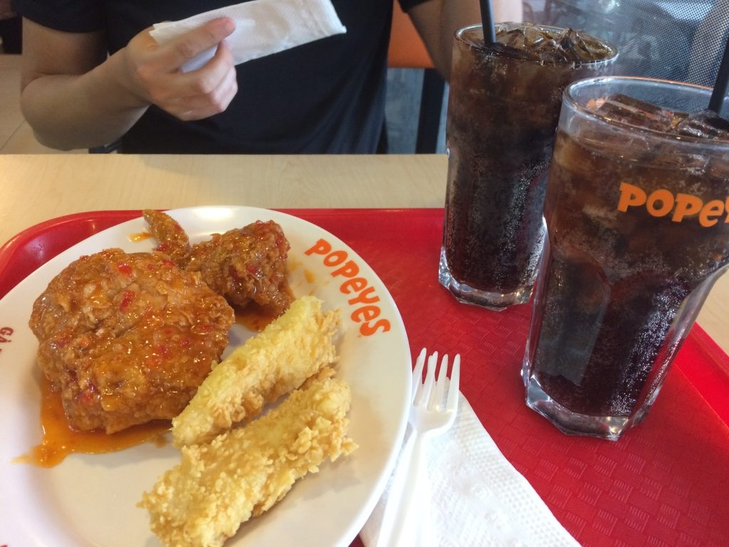Popeye's combo (88,000 VND = $5 CAD)