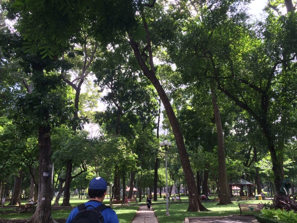 Cong Vien Tao Dan (Park): We found a brief reprieve in a quiet and shaded park.