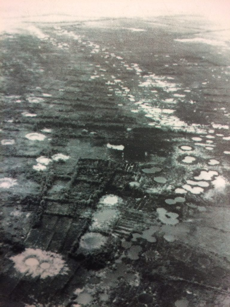 Picture by Henri Huet. Shows bomb craters created by all the B-52 that were dropped by U.S. Air forces.