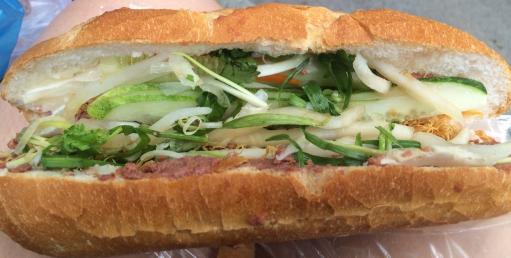 This is the special banh mi (30,000 VND = $1.70 CAD)