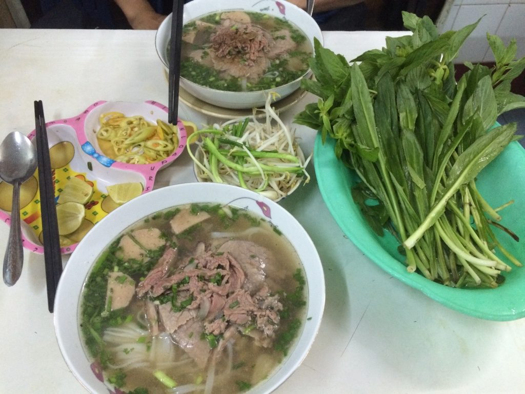 Our special beef pho (had everything in it). 70,000 VND = $4 CAD
