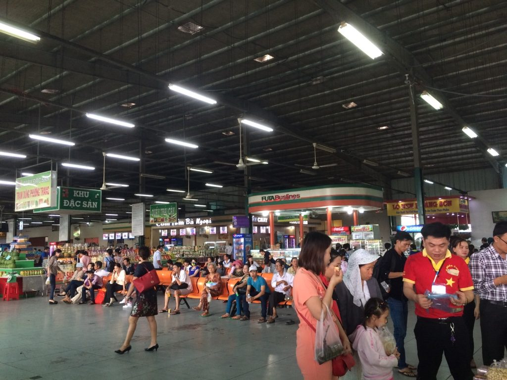 Inside Phuong Trang's rest stop area
