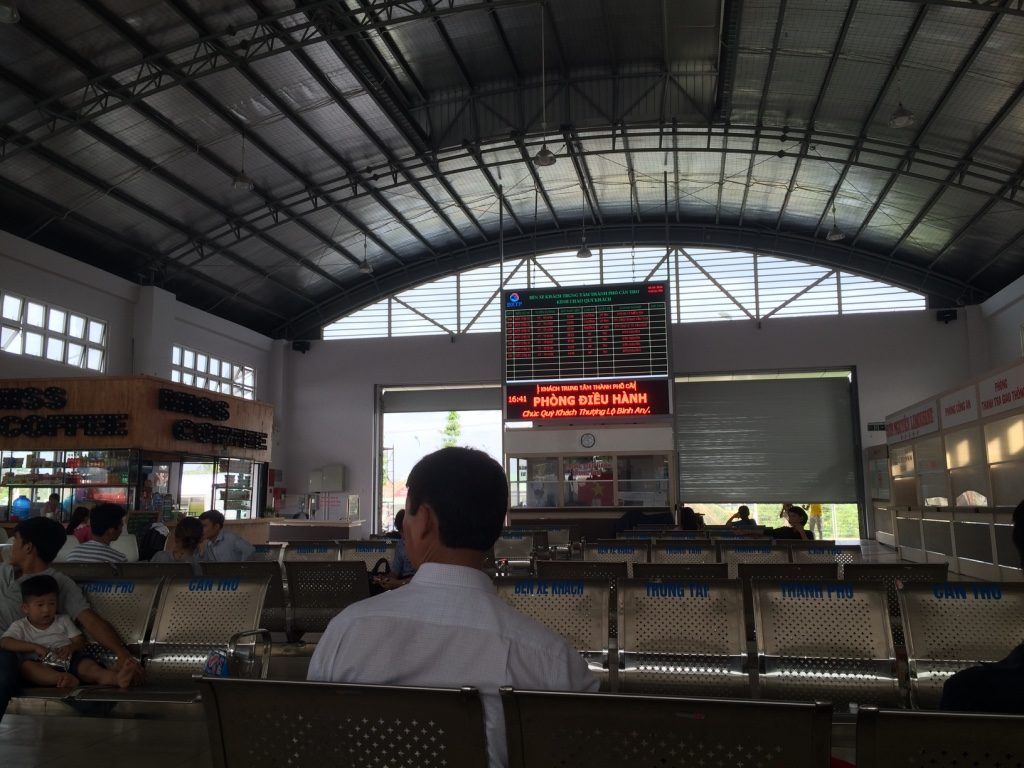 Can Tho bus station. It's a lot more modern than the HCMC one.