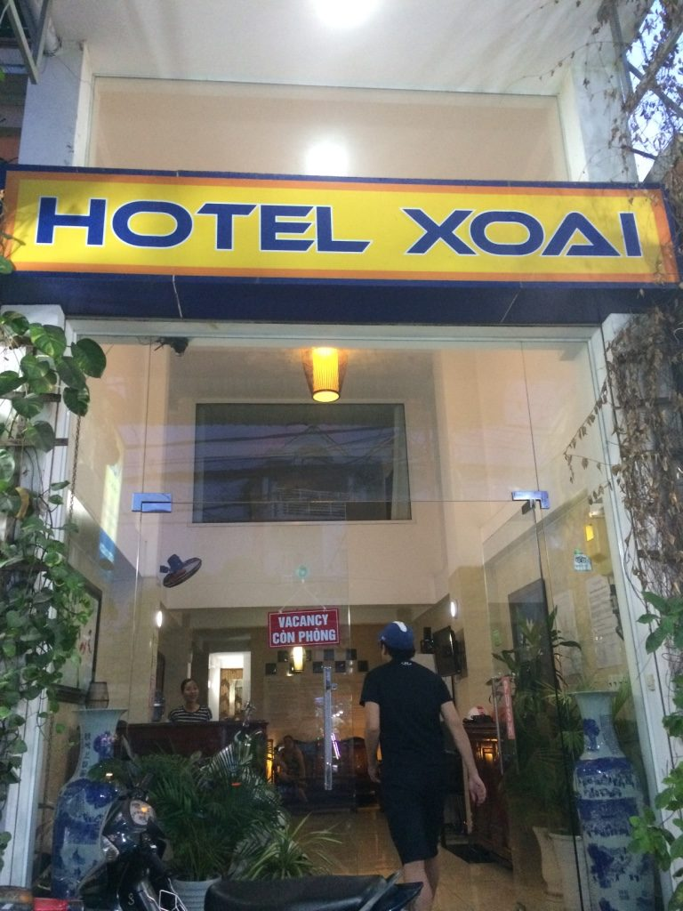 Hotel Xoai entrance. Highly rated on Trip Advisor. Lots of Germans staying here.