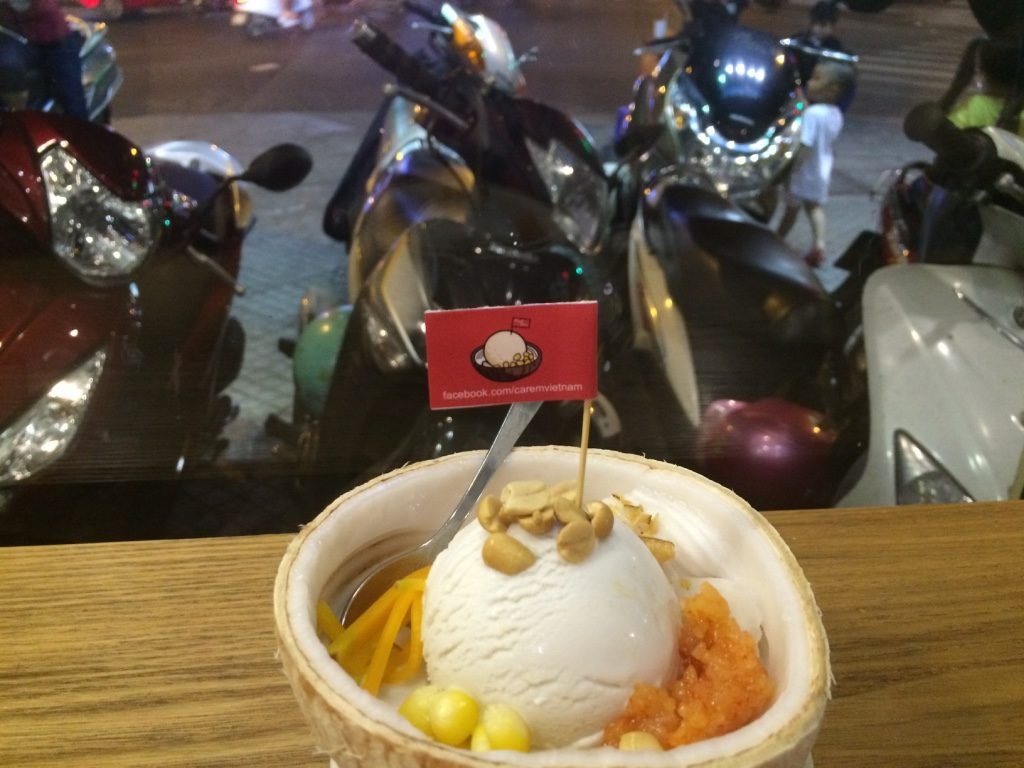 Coconut ice cream - 35,000 VND = $2 CAD