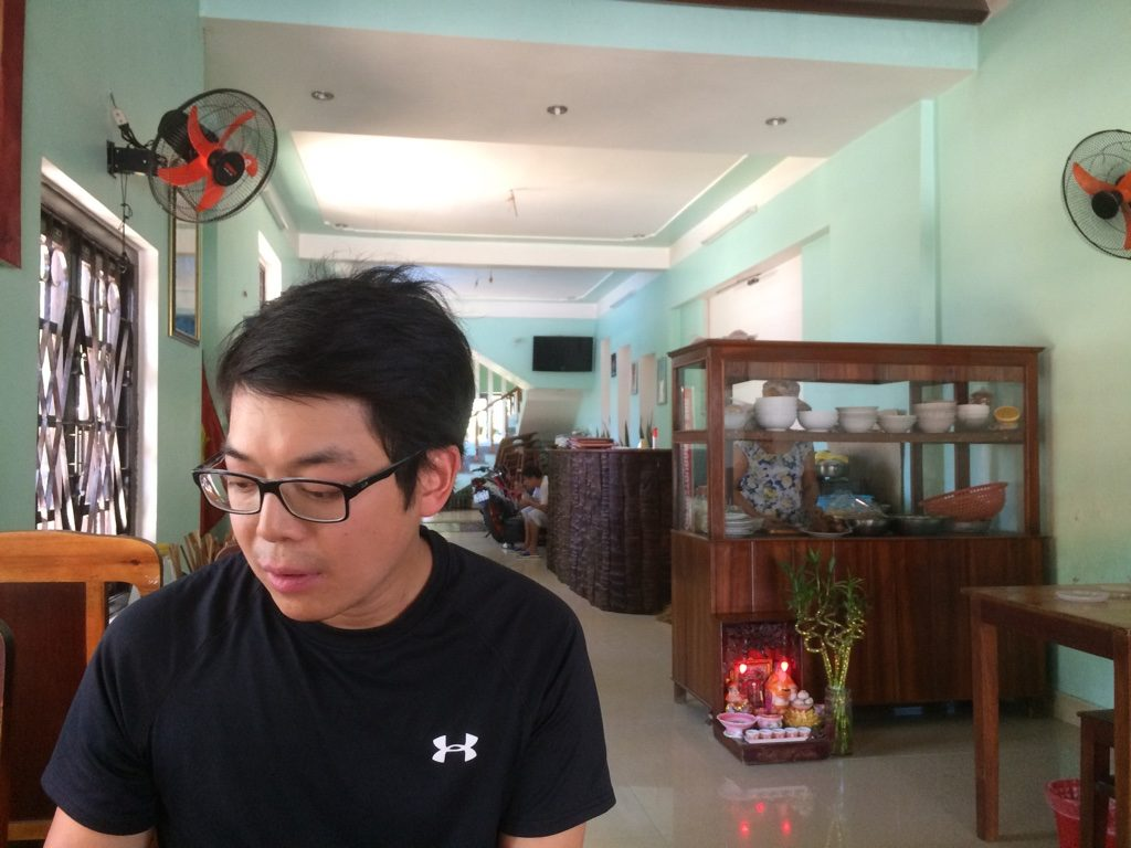 Inside the cao lau restaurant