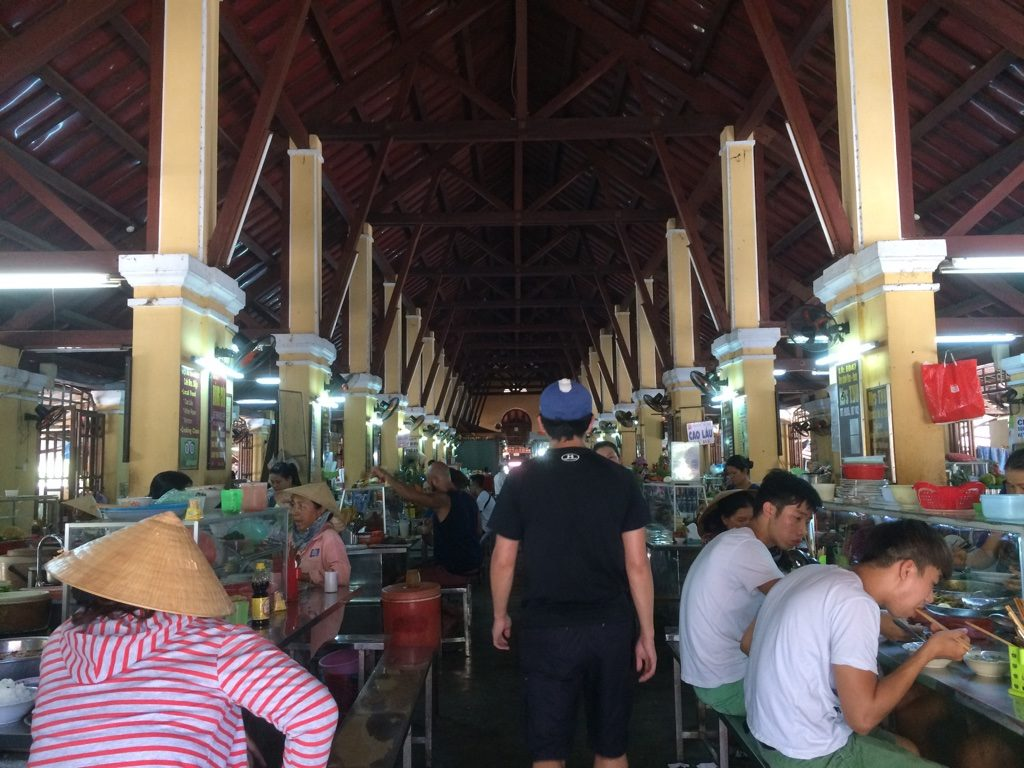 We walked through the Central Market and it wasn't very busy. It was good we didn't end up eating at the cao lau place here that Anthony Bourdain went to. It didn't look that good and the whole market was super stuffy and hot
