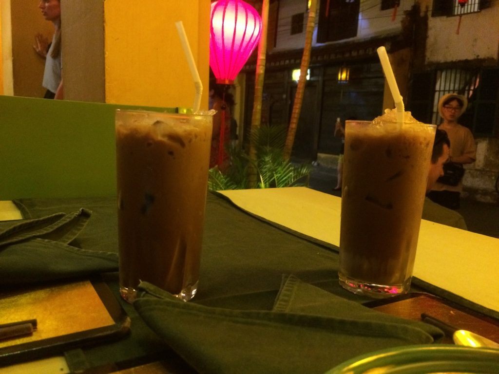 Vietnamese iced coffee, which kept me up all night. Don't know why I had it for dinner. (25, 000 VND = $1.45 CAD)