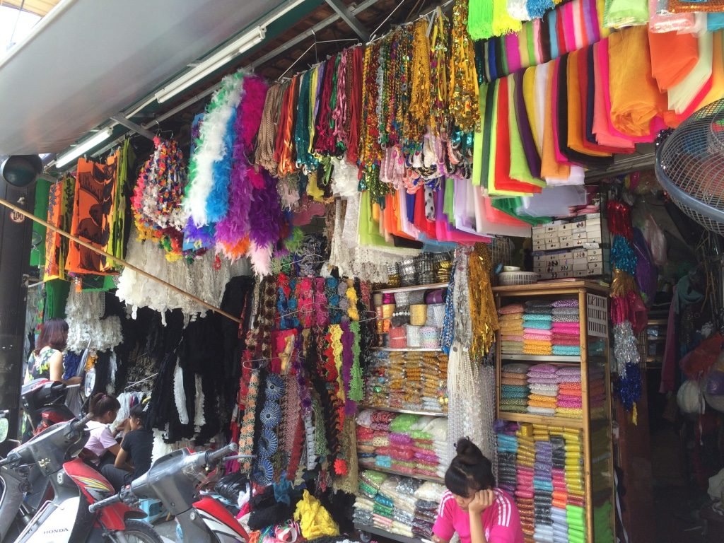 Each street we went to sold different things. This was part of the garment area