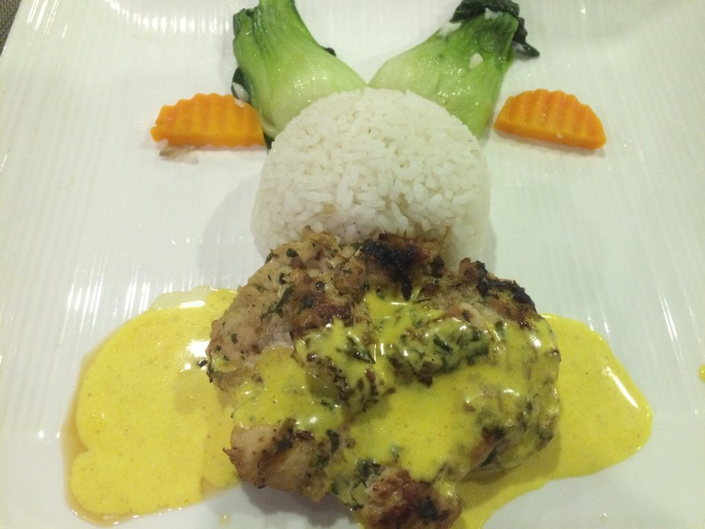 4th course: Coconut curry chicken and rice