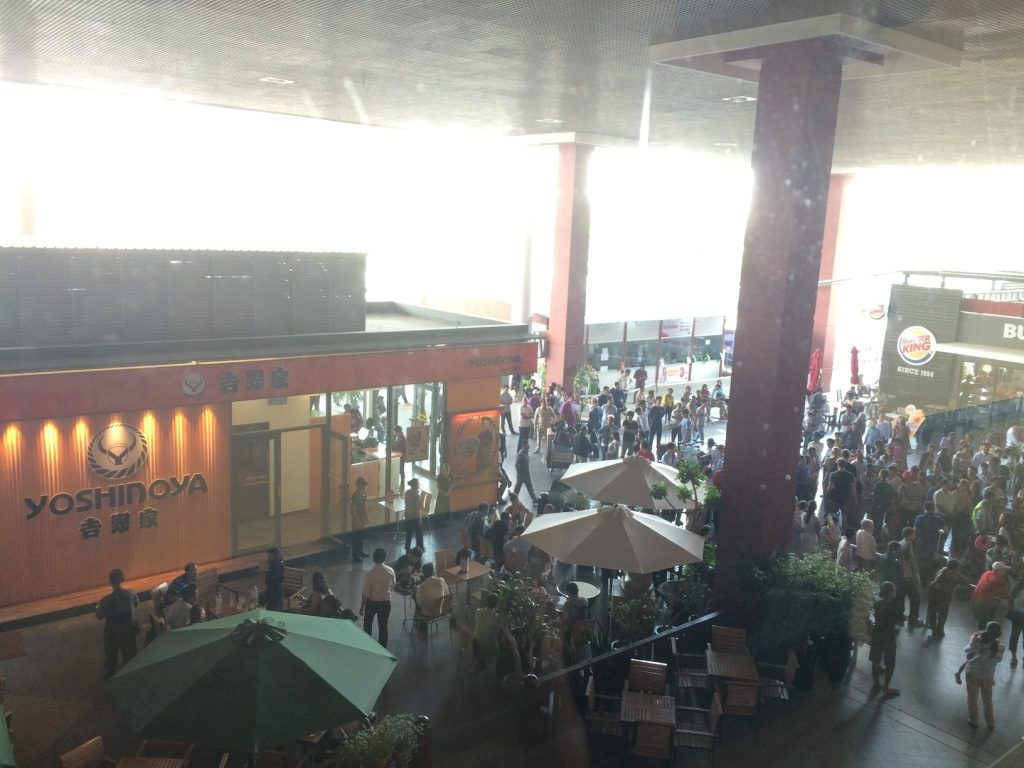 There are a lot of restaurants outside the terminals near the arrivals