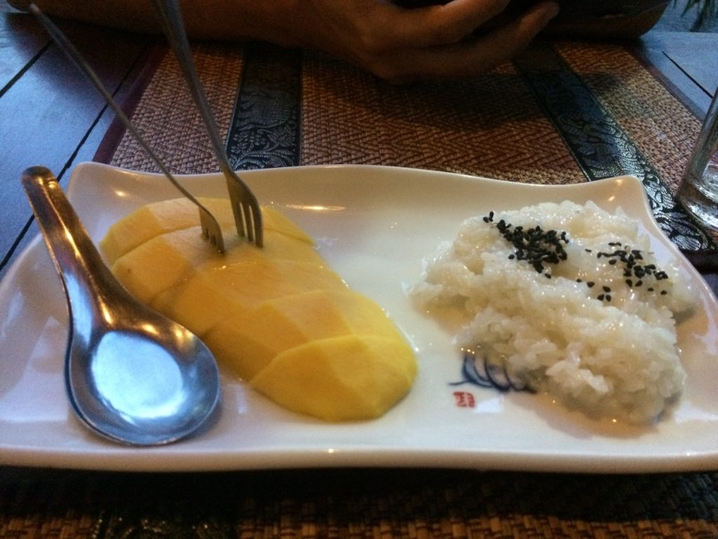 The mushy mango sticky rice ($2.50 USD)