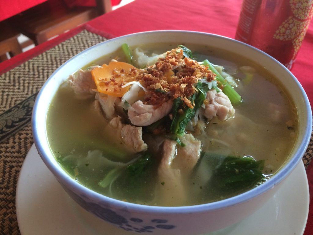 Pork noodle soup ($6.50 USD)