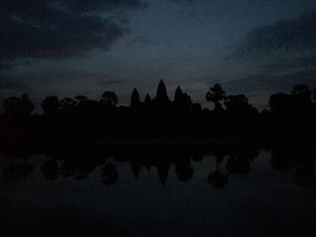 What Angkor Wat looked like when we got there at 5:15am