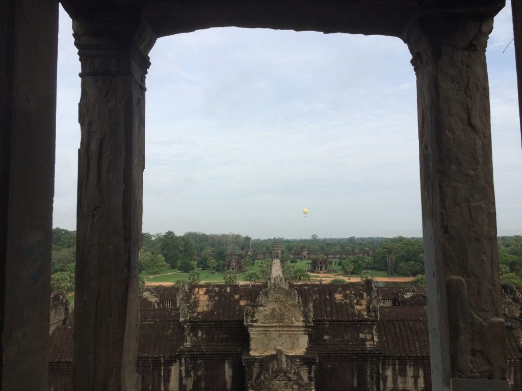 View from Angkor Wat towards the front entrance