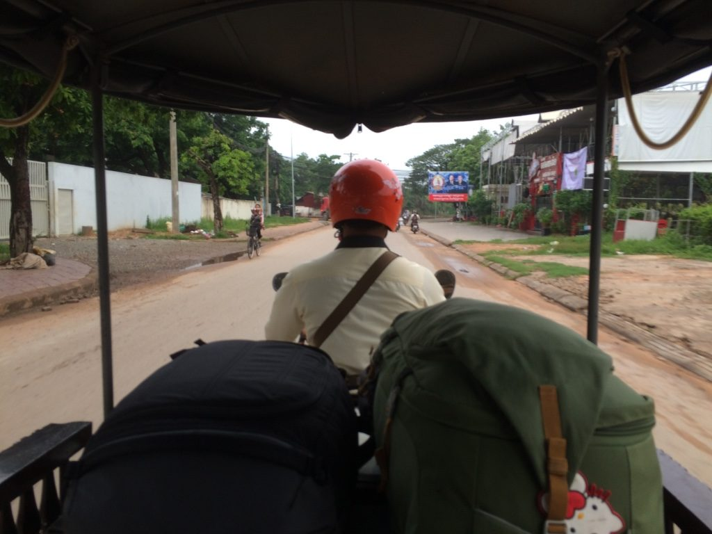 Our last tuk tuk ride in Cambodia