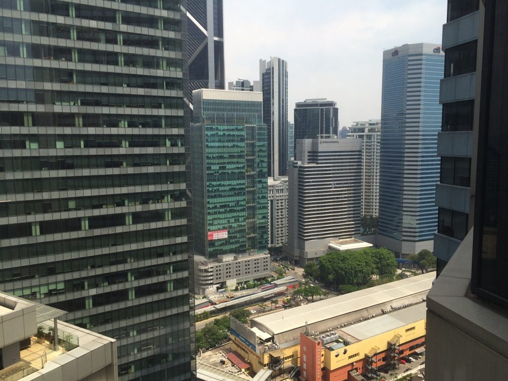 View from our room. The yellow building below is Ampang Mall which is where we'd go for lunch