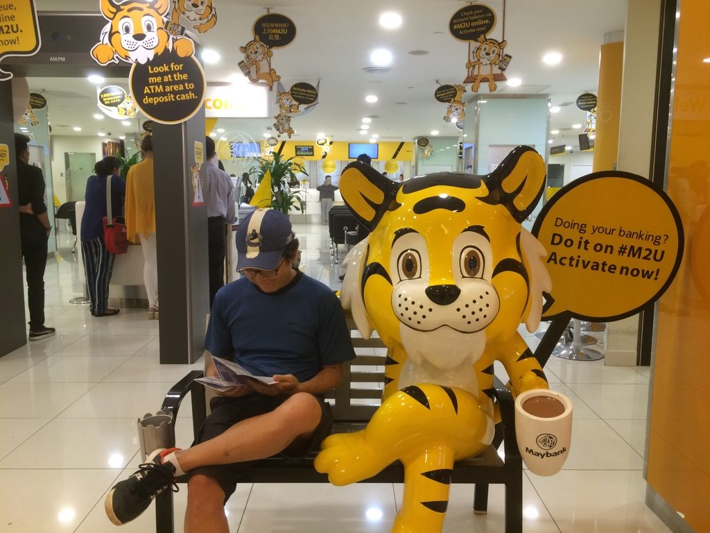 Hanging out with the Maybank tiger