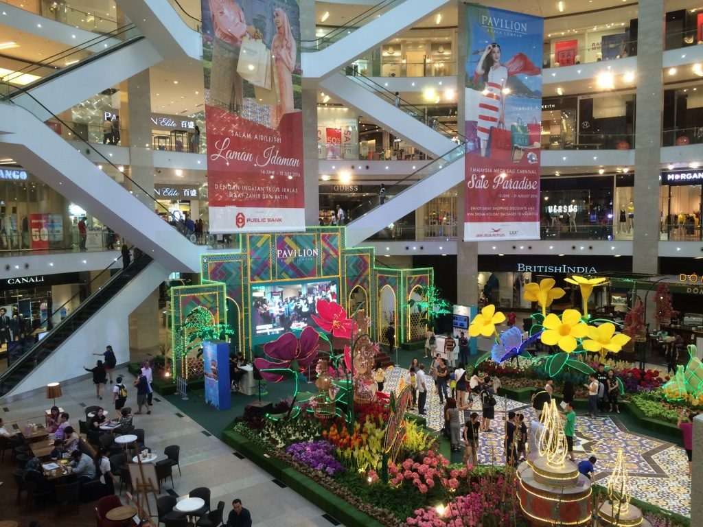 Pavilion Mall (one of many mega malls in KL)