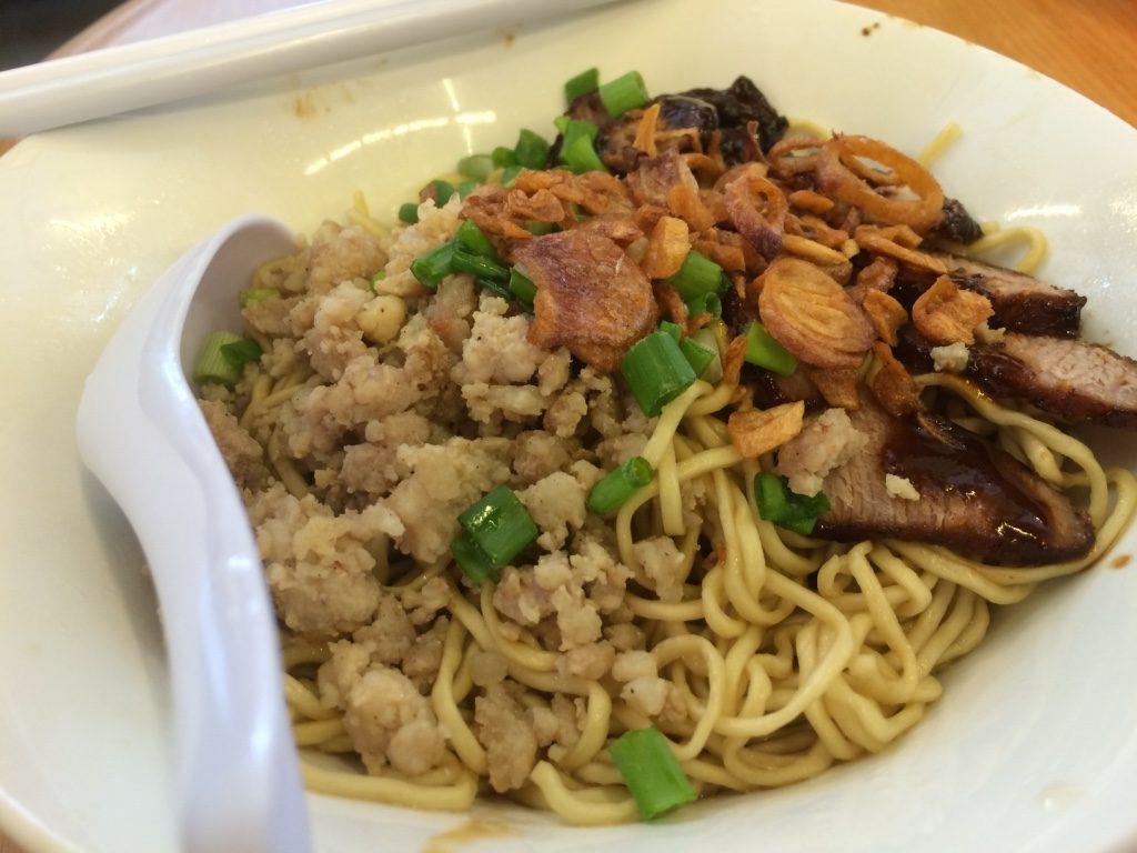 Tim's dry pork noodles (6 MYR)