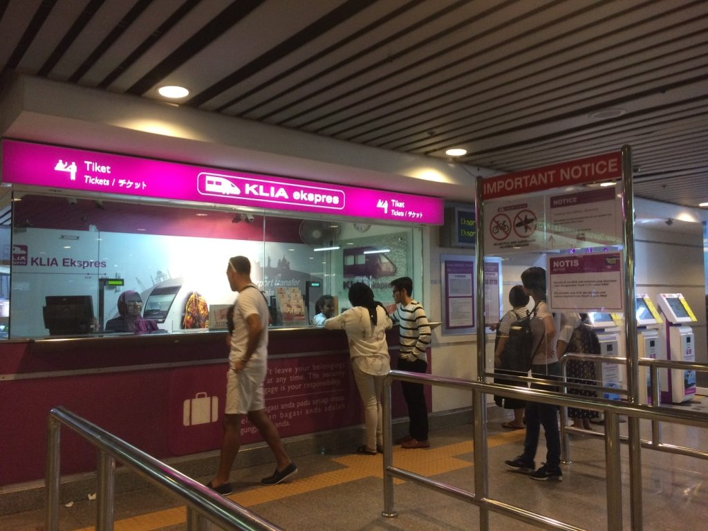 KLIA Express ticket counter