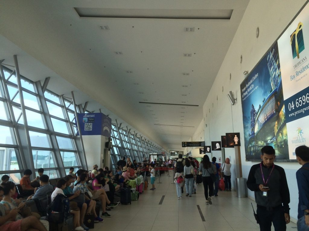 Penang Airport departure terminal was pretty packed