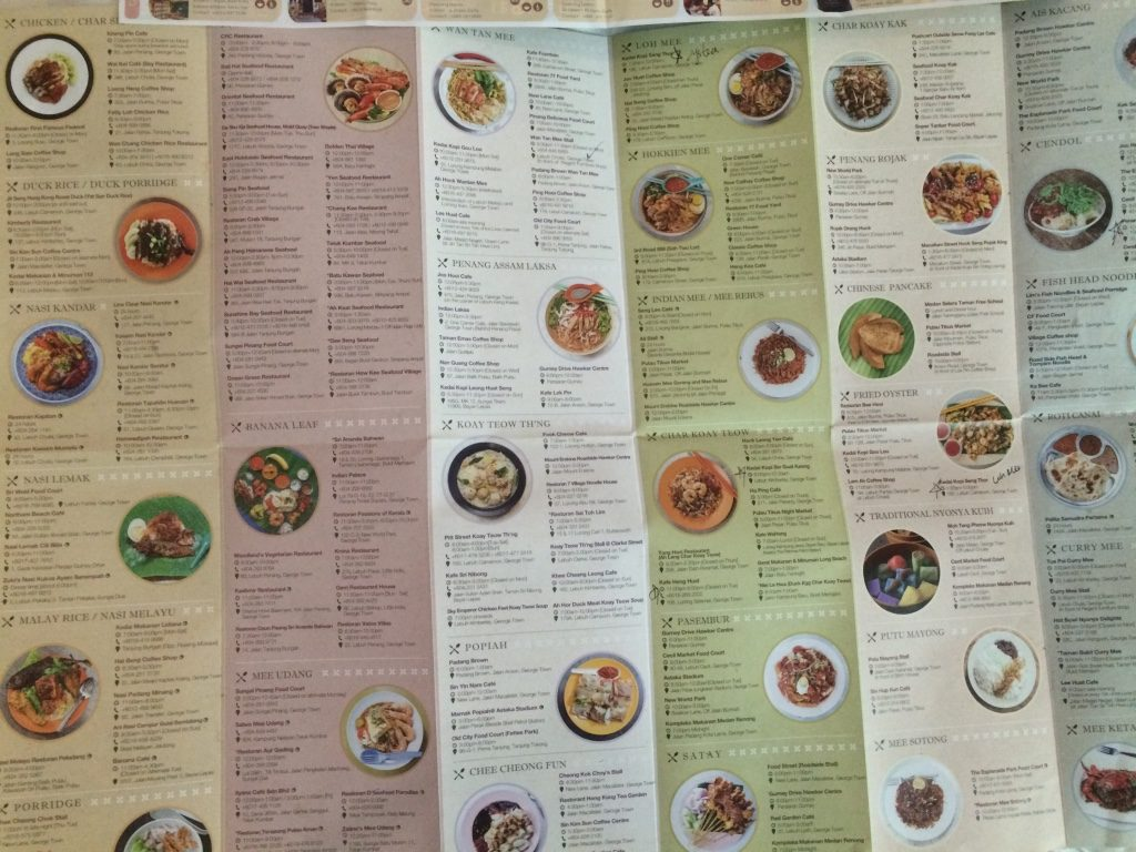 Meal planning in Penang