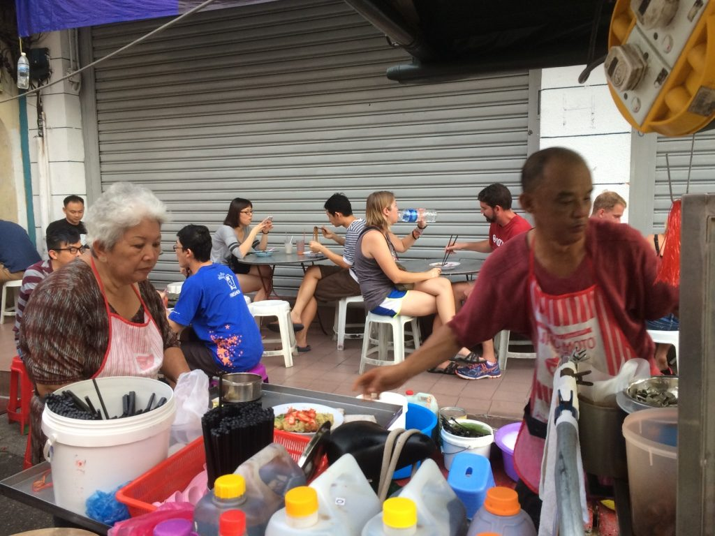 Wan Tan Mee stall. Grandma (Poh Poh) is the boss lady, or the one in charge of the cash.