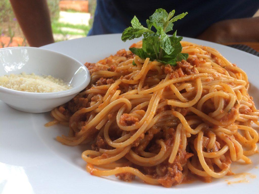 Tim's spaghetti bolognese ($10 CAD)