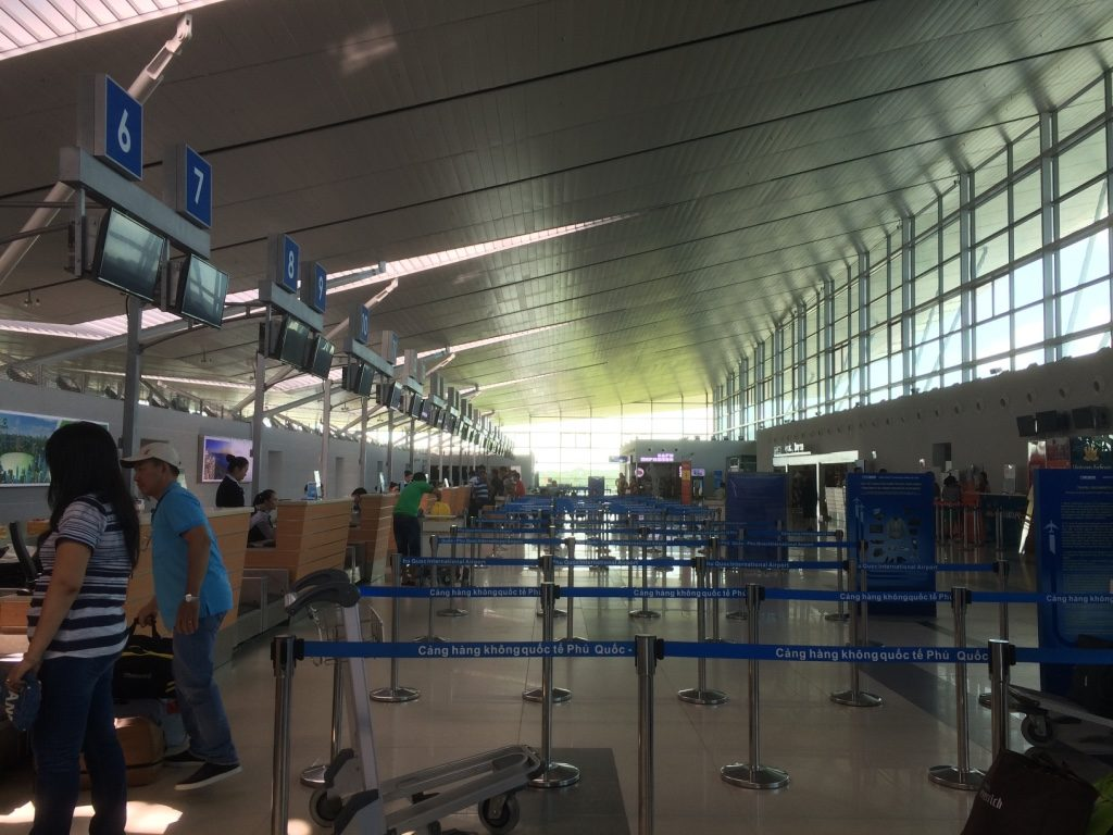 Phu Quoc Airport check in counters