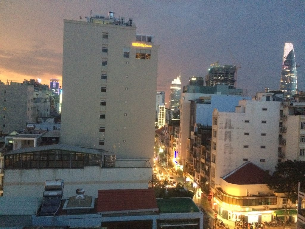 View of Le Thanh Ton St. from our window